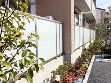 外構工事 (駐輪場設置・舗装・スロープ・フェンス)